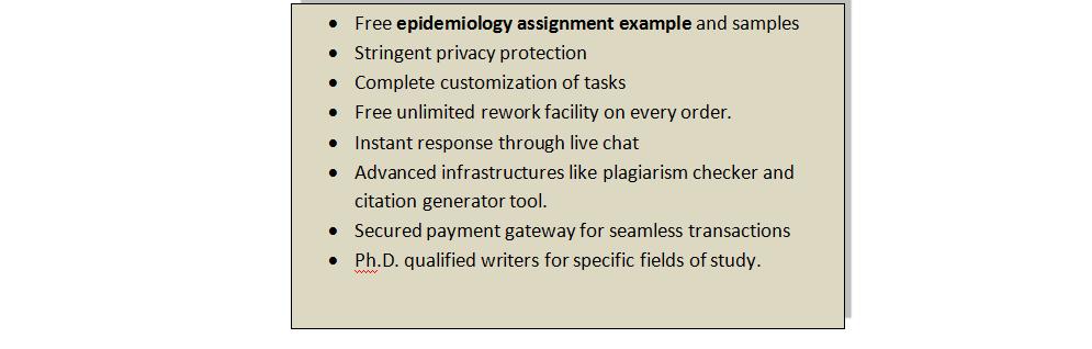 Epidemiology homework help